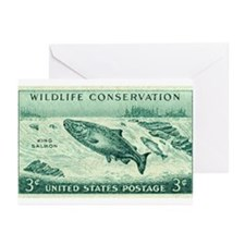 Unique Salmon fishing Greeting Cards (Pk of 20)