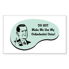 Orthodontist Voice Rectangle Decal