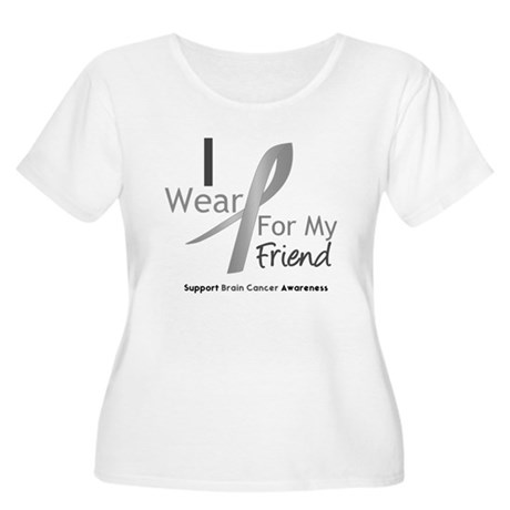 Gray Ribbon Friend Women's Plus Size Scoop Neck T-