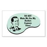 Nuclear Engineer Voice Rectangle Sticker 10 pk)