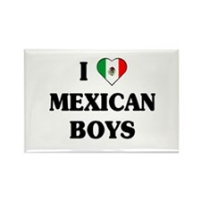 I Love Mexican Boys Rectangle Magnet (10 pack)