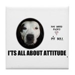 AMERICAN PIT BULL TERRIER Tile Coaster