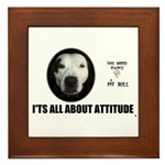 AMERICAN PIT BULL TERRIER Framed Tile