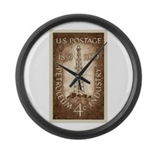 Funny Oil industry Large Wall Clock