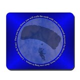 Skydiving Blue Leonardo da Vinci Mousepad