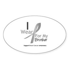 Gray Ribbon Brother Oval Decal