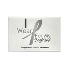 Gray Ribbon Boyfriend Rectangle Magnet