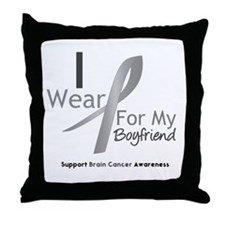 Gray Ribbon Boyfriend Throw Pillow