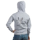 Gray Ribbon Aunt Zip Hoodie