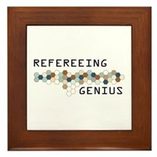 Refereeing Genius Framed Tile