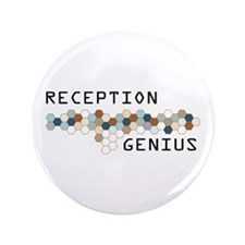 "Reception Genius 3.5"" Button (100 pack)"