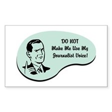 Journalist Voice Rectangle Sticker 10 pk)