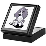 Blue Dapple Piebald LH Doxie Keepsake Box