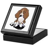Red Dapple Piebald LH Doxie Keepsake Box