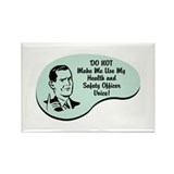 Health and Safety Officer Voice Rectangle Magnet (