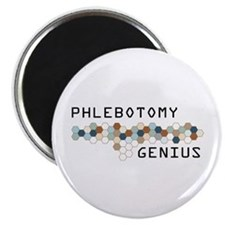 "Phlebotomy Genius 2.25"" Magnet (100 pack)"
