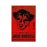 Obey the Jack Russell! icon Rectangular Magnet