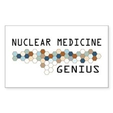 Nuclear Medicine Genius Rectangle Decal