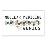 Nuclear Medicine Genius Rectangle Sticker 10 pk)