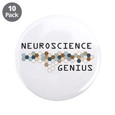 "Neuroscience Genius 3.5"" Button (10 pack)"