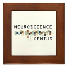 Neuroscience Genius Framed Tile