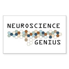 Neuroscience Genius Rectangle Sticker 10 pk)