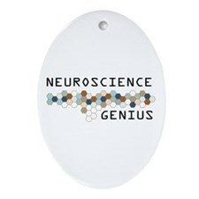 Neuroscience Genius Oval Ornament