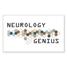 Neurology Genius Rectangle Sticker 10 pk)