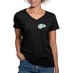 English Major Voice Women's V-Neck Dark T-Shirt
