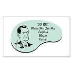 English Major Voice Rectangle Sticker
