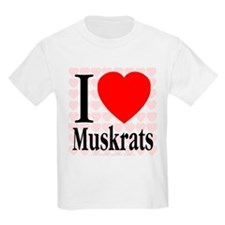I Love Muskrats Kids T-Shirt