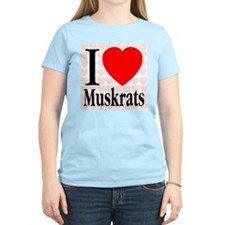I Love Muskrats Women's Pink T-Shirt