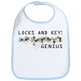 Locks and Keys Genius Bib