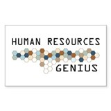 Human Resources Genius Rectangle Sticker 50 pk)