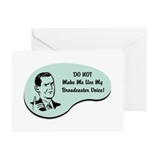 Broadcaster Voice Greeting Cards (Pk of 20)
