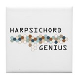 Harpsichord Genius Tile Coaster