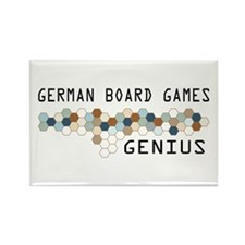 German Board Games Genius Rectangle Magnet (100 pa