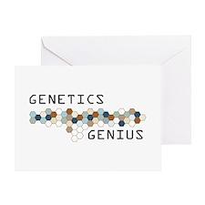 Genetics Genius Greeting Card