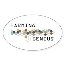 Farming Genius Oval Decal