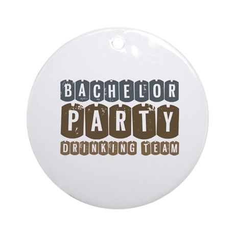 Bachelor Drinking Team Ornament (Round)
