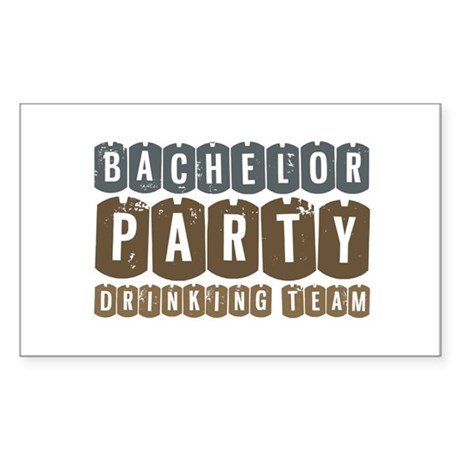 Bachelor Drinking Team Rectangle Sticker