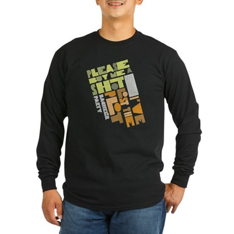 Retro Lost the Plot Long Sleeve Dark T-Shirt