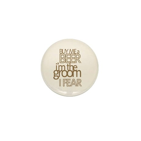 Buy Me a Beer Groom Mini Button
