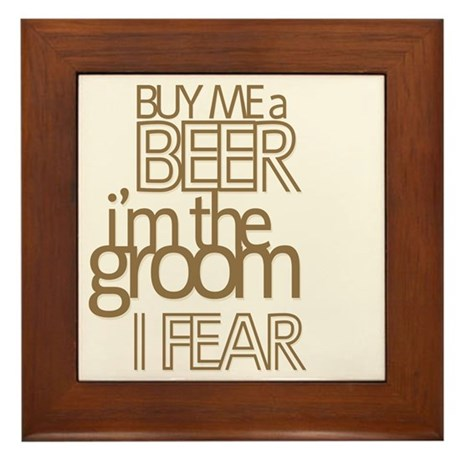 Buy Me a Beer Groom Framed Tile