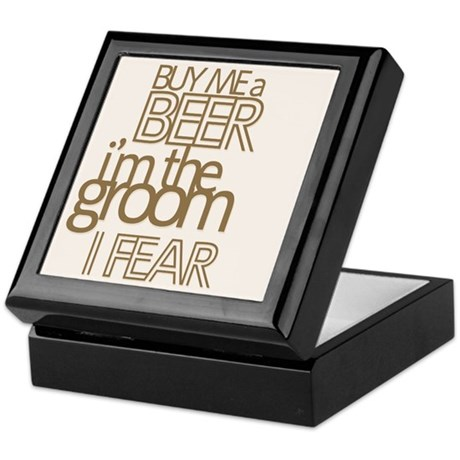 Buy Me a Beer Groom Keepsake Box
