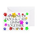 Pets living in sin Greeting Cards (Pk of 10)
