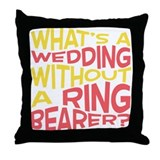 Red Ring Bearer Throw Pillow