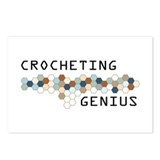 Crocheting Genius Postcards (Package of 8)