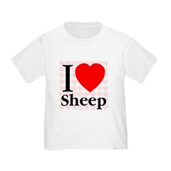 I Love Sheep Toddler T-Shirt