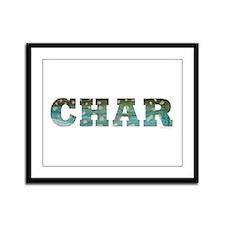 CHAR Word Framed Panel Print